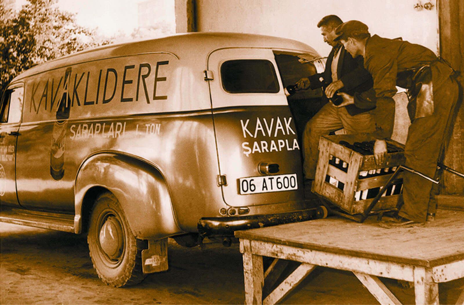 camionnette de livraison de vin kavaklidere