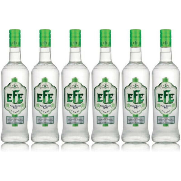 Sparpaket 6 x Efe Fresh Grape Raki 0
